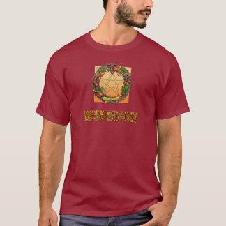 Camiseta Grinalda de Mabon com letras do carvalho