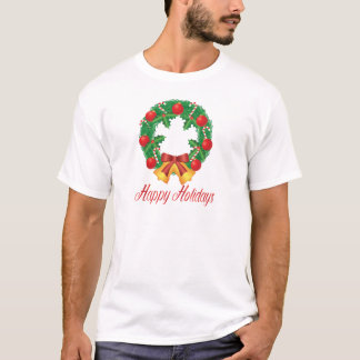 Camiseta Grinalda do Natal com ornamento Bels e doces
