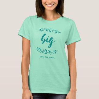 Camiseta Grinalda grande alfa da tau do Zeta