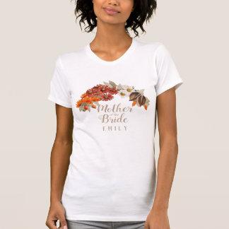 Camiseta Grinalda M alaranjado do casamento outono da noiva