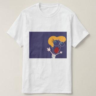 Camiseta gritar azul escuro