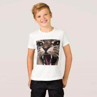 Camiseta Gritar do gato do Meow