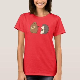 Camiseta Groundhog, ouriço, T dos Ukuleles