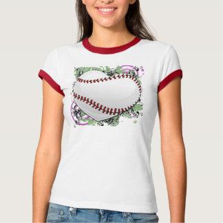 Camiseta Grunge do coração do basebol