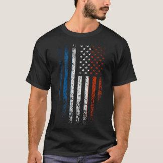 Camiseta Grunge francês da bandeira americana