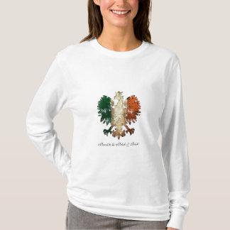 Camiseta Grunge orgulhoso ser polonês & irlandês