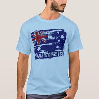 Camiseta Grunge retro bandeira pintada de Austrália