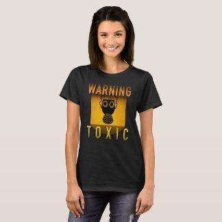 Camiseta Grunge retro de advertência tóxico da idade