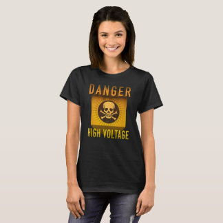 Camiseta Grunge retro de alta tensão da idade atômica do