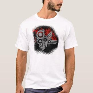 Camiseta Grunge retro flamejante