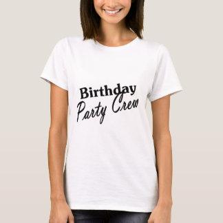 Camiseta Grupo da festa de aniversário