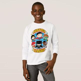 Camiseta Grupo da liga de justiça de Chibi