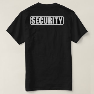 Camiseta Grupo da segurança do evento - parte dianteira e