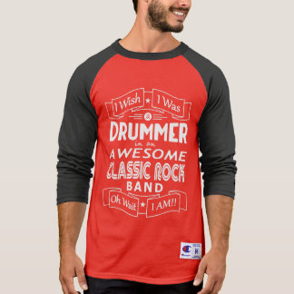 Camiseta Grupo de rock clássico impressionante do BATERISTA