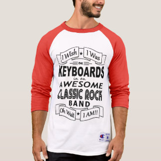 Camiseta Grupo de rock clássico impressionante dos TECLADOS