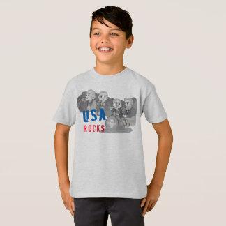 Camiseta Grupo de rock de Rushmore