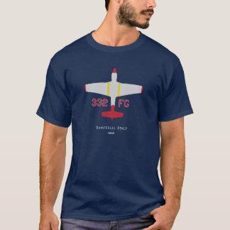 Camiseta Grupo vermelho do lutador da cauda P-51 332