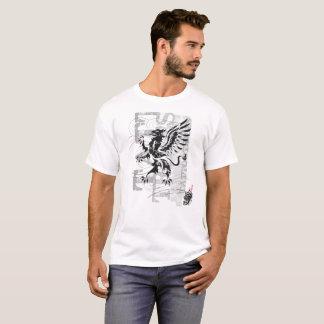Camiseta Gryphon tribal - t-shirt branco