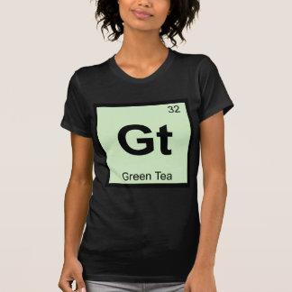 Camiseta GT - Símbolo da mesa periódica da química do chá