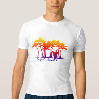 Camiseta Guarda havaiana do prurido da palmeira da praia de
