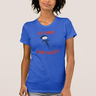 """Camiseta """"Guarde o t-shirt das mulheres da costa"""" (o texto"""