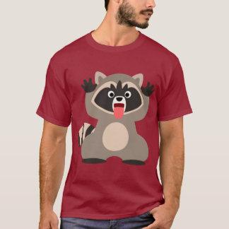 Camiseta Guaxinim bonito dos desenhos animados que cola