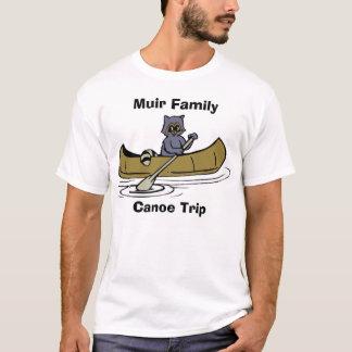 Camiseta Guaxinim da viagem da canoa da família de Muir