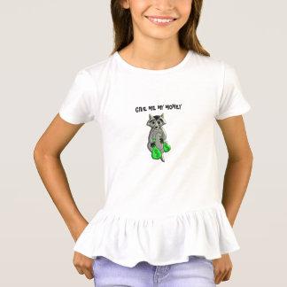 Camiseta Guaxinim - dê-me o dinheiro