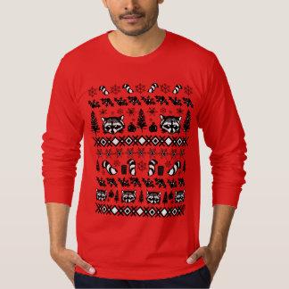 Camiseta Guaxinim feio da camisola do Natal