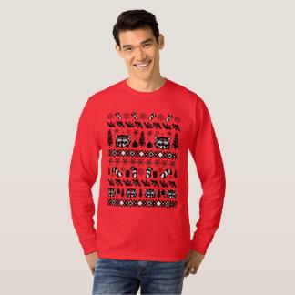 Camiseta Guaxinim feio da camisola do Natal - camisola