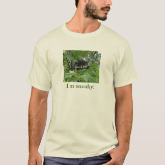 Camiseta Guaxinim Sneaky - o t-shirt dos homens