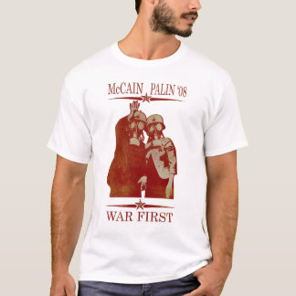 Camiseta Guerra de McCain Palin primeiramente