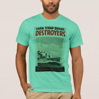 Camiseta Guerra mundial 3 dos contratorpedeiros