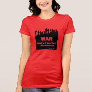 Camiseta Guerra-Que é bom para? Tshirt das canvas de Bella
