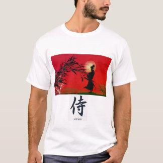 Camiseta Guerreiro do samurai que contempla o t-shirt dos