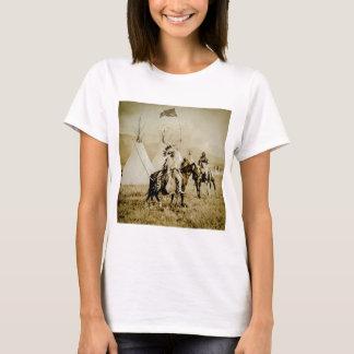 Camiseta Guerreiros Flathead do nativo americano do vintage