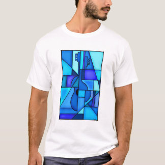 Camiseta Guitarra azul