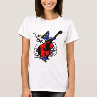 Camiseta Guitarra com borboletas