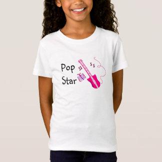 Camiseta Guitarra cor-de-rosa do estrela pop