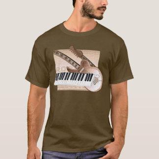 Camiseta Guitarra do teclado do t-shirt do design do tema