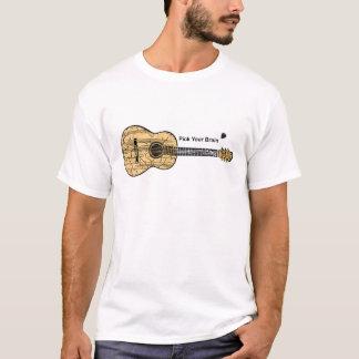 Camiseta Guitarra: Escolha seu cérebro