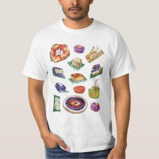 Camiseta Guloseimas filipinas da comida na aguarela Pinoy