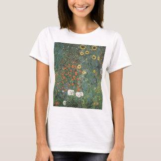 Camiseta Gustavo Klimt - flores dos girassóis do jardim do