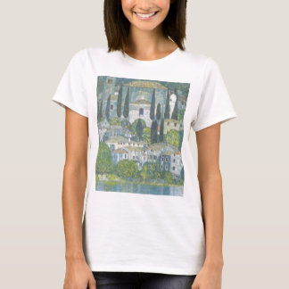 Camiseta Gustavo Klimt - igreja no trabalho de arte de