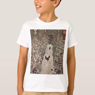 Camiseta Gustavo Klimt - jardim com galos