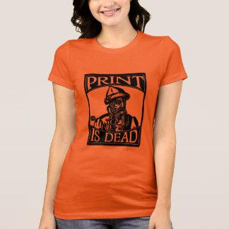 """Camiseta Gutenberg """"impressão está inoperante"""" do Woodcut"""