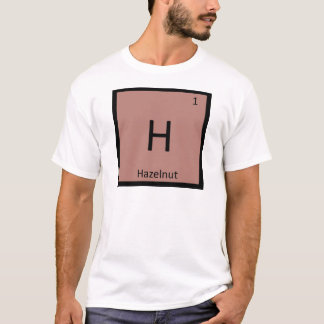 Camiseta H - Símbolo da mesa periódica da química da porca