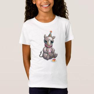 Camiseta Há um rinoceronte novo no t-shirt do tempo do