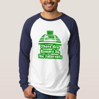 Camiseta Há uns boatos nos Internet