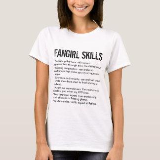 Camiseta Habilidades engraçadas de Fangirl